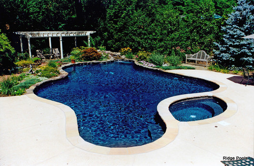 Dark Blue Pool Water is the pool's color look dark blue because of the liner?