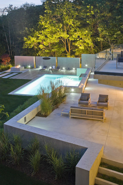 River House contemporary-pool