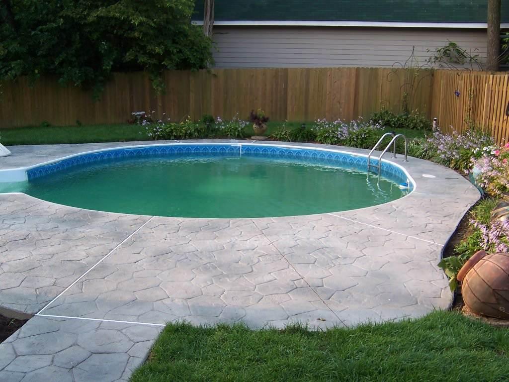 Rock Hill, Missouri Stamped Concrete Pool Deck