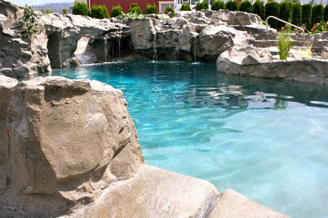 rock swimming pool tropical-pool