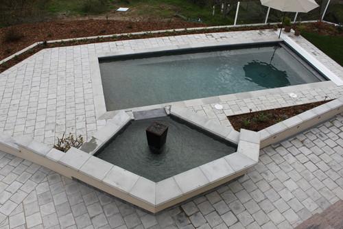 Contemporary Pool by Gardena Tile, Stone & Countertops ARTO