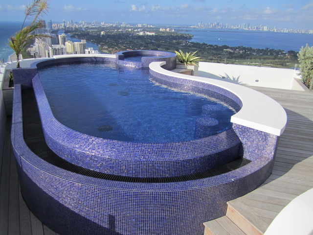 Rooftop Pool Amp Spa Miami Contemporary Pool Miami