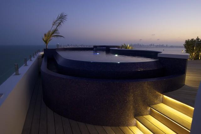 Rooftop pool spa miami contemporary pool miami for Pool design miami