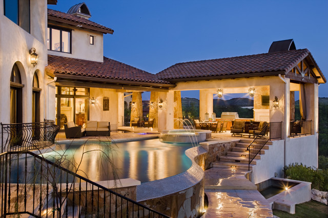 Cornerstone Architects rough hollow outdoor living - mediterranean - pool - austin -