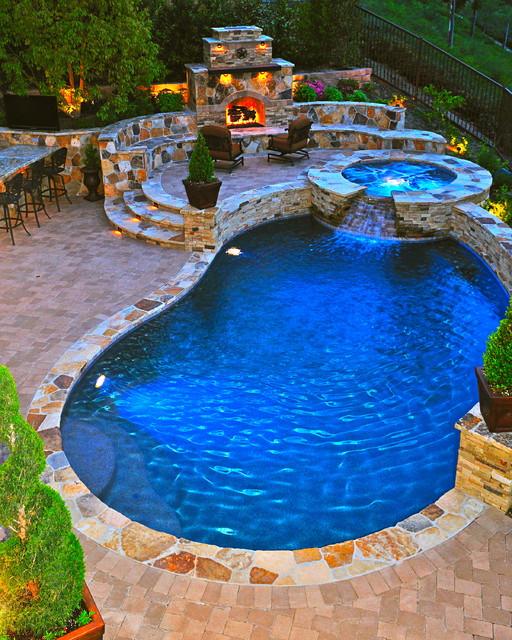Rue group inc mediterranean pool orange county by for Pool design orange county