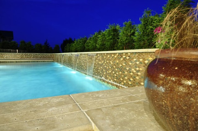 Rustic contemporary contemporary pool omaha by la for Pool design omaha