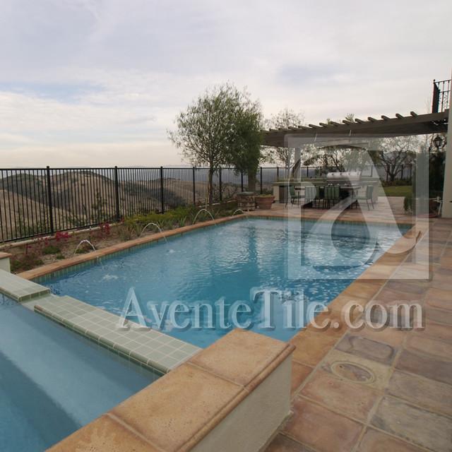 Rustic Pavers for Wet Areas, Swimming Pools mediterranean-pool