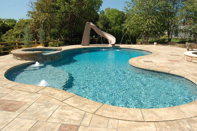 Rustic Stamped Concrete Patios, Pool Decks And Hardscapes Rustic Pool