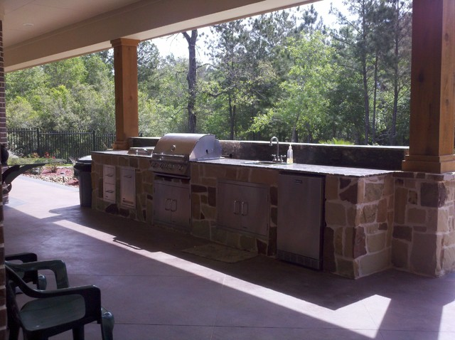 Rustic summer kitchen rustic pool other by great for Rustic pools