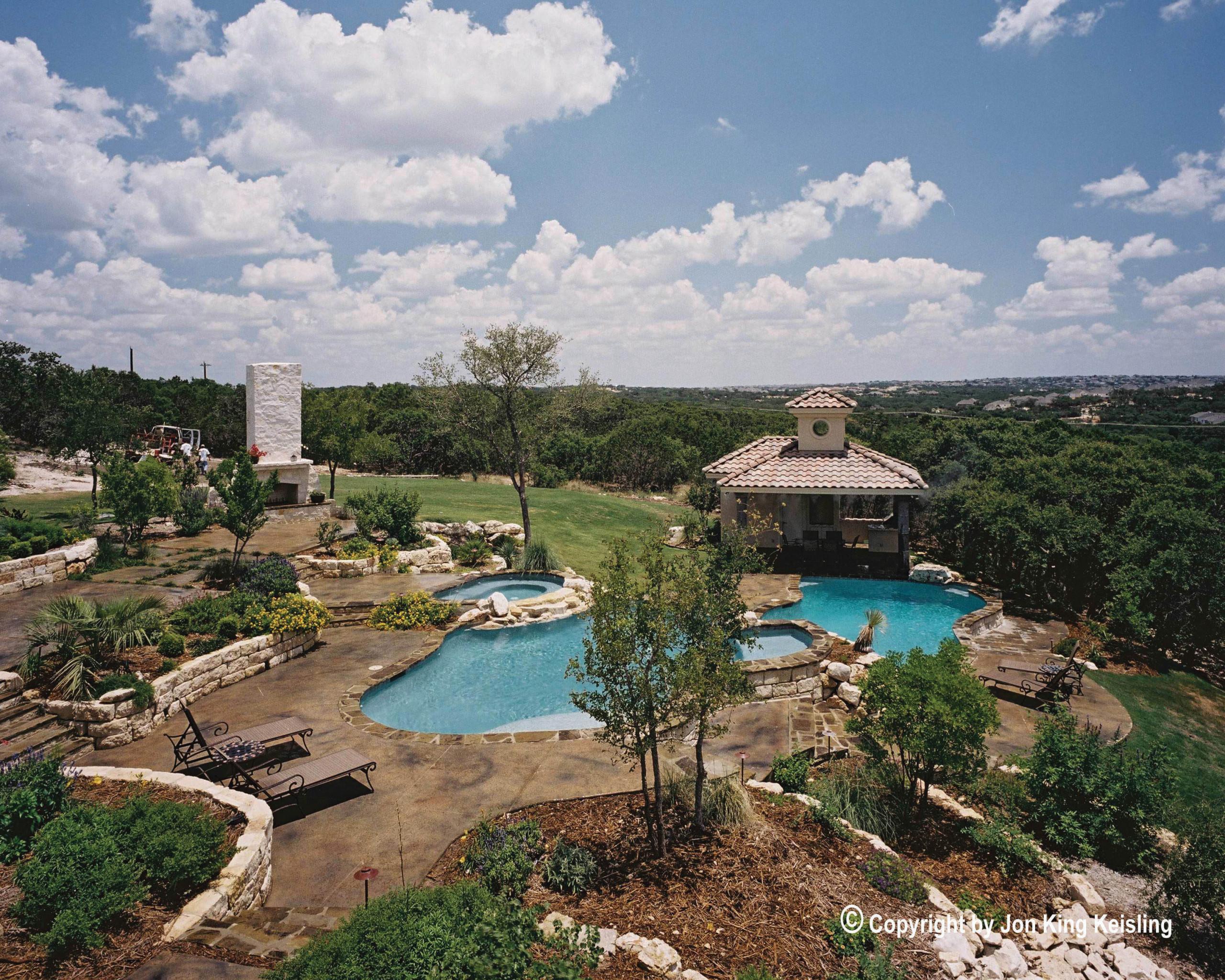 San Antonio Multi-Level Pool/Spa/Landscape