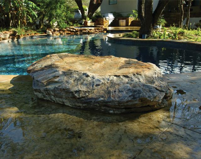 San Antonio Texas Natural Pool Spa Waterfall Outdoor Living