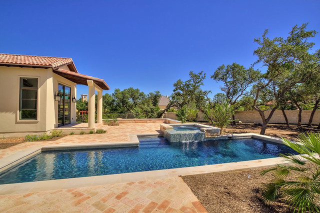 Santa Barbara Inspired Custom Home Mediterranean Pool