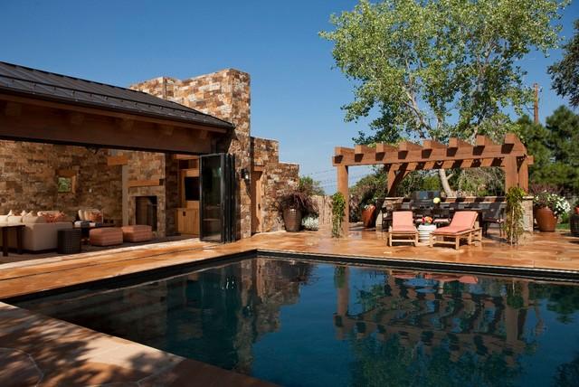 Santa Fe Sanctuary Pool Pool House Rustic Swimming Pool Hot Tub Albuquerque By Annie