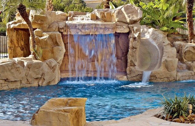 Sarasota Swimming Pool Waterfalls Traditional Pool Other By Rock 39 N Water Creations