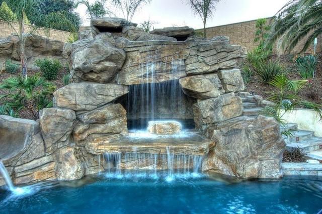 Sarasota Swimming Pool Waterfalls - Traditional - Pool - Tampa - by ...