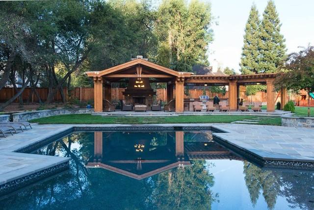 saratoga extreme backyard make over craftsman pool san francisco