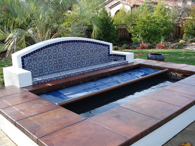 Saratoga Spa With Automatic Pool Cover Mediterranean