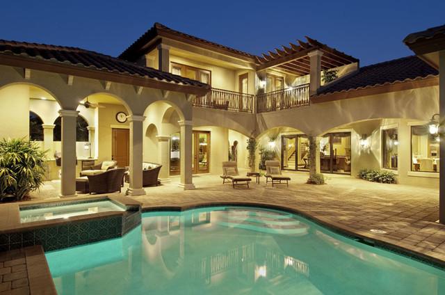 Sater Design Casoria Plan Mediterranean Pool Miami By Sater Design Collection Inc