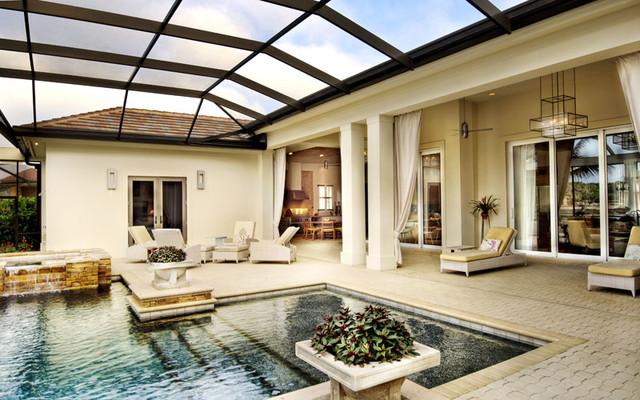 Sater Design Homes Mediterranean Swimming Pool amp Hot