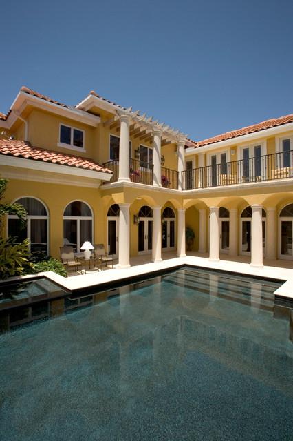 "Sater Group's ""Villoresi"" Custom Home Design mediterranean-pool"
