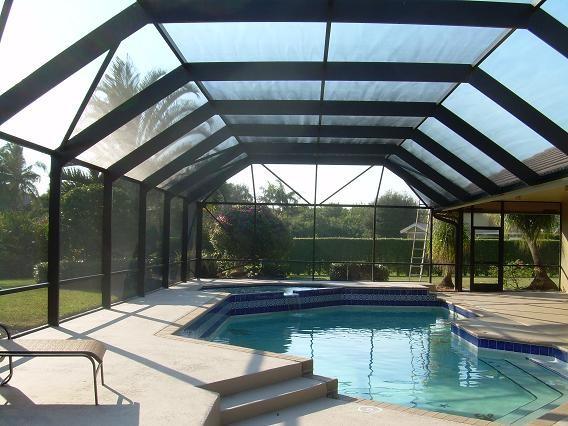 Screen Pool Enclosures Photos Tropical Pool Miami