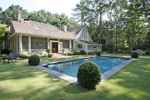 Screened Porch And Pool Traditional Pool Atlanta