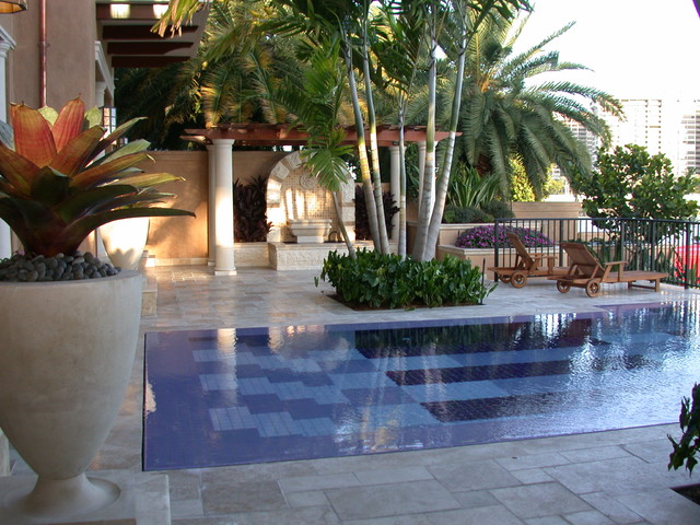 Sculpturally Splendid tropical pool
