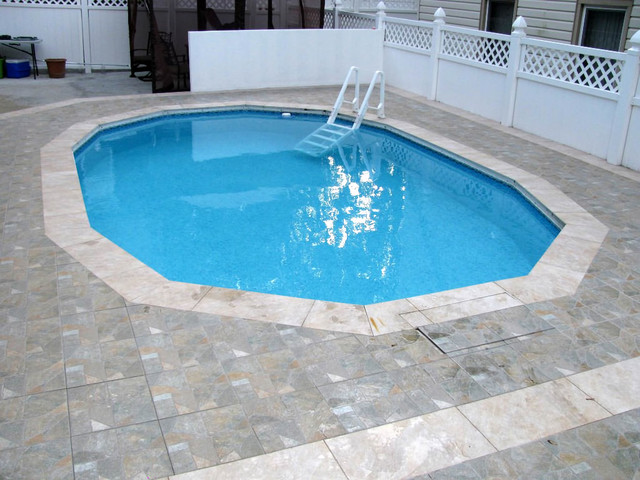 Semi In Ground Pools Traditional Pool New York By Gus Pools