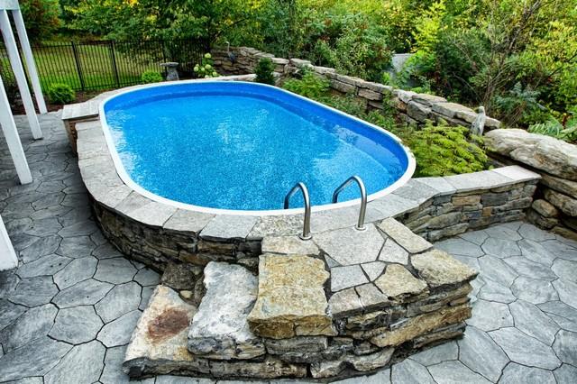 Semi Inground Pools Traditional