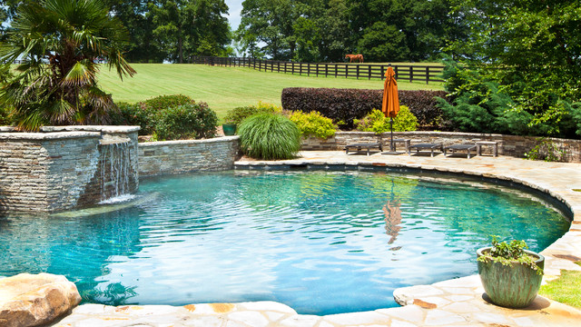 Serene Pool Elevated Spa Traditional Pool Atlanta By Selective Designs By Shane Leblanc