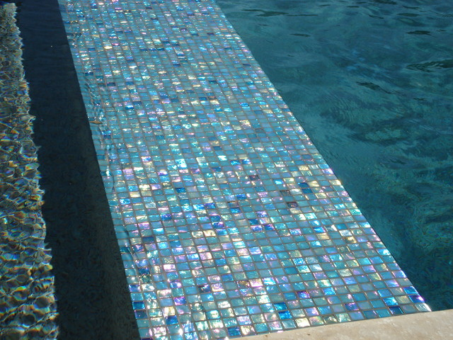 Shadow ridge modern pool oklahoma city by j allen for Pool tile designs