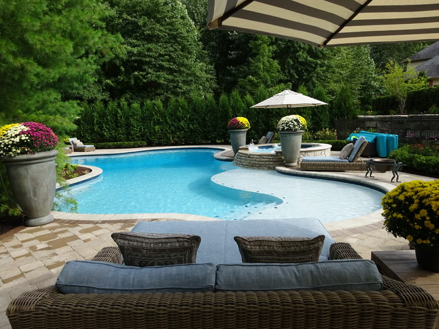 Shelby Township Michigan Private Pool U0026 Landscape Design - Contemporary - Pool - Detroit - By ...