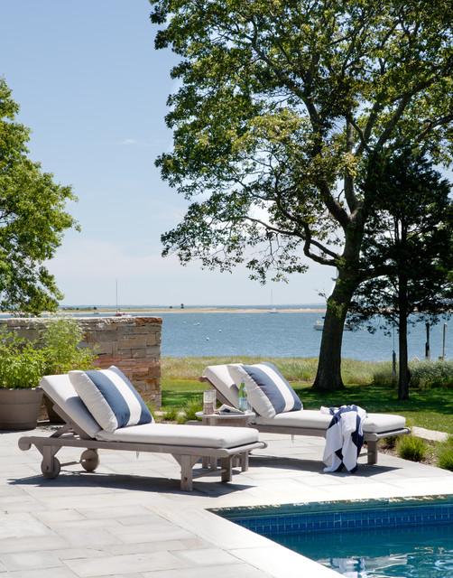 Shelter Island Beach House beach-style-pool