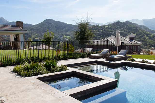 Sherwood Estate Contemporary Swimming Pool Hot Tub Los Angeles By Ahern Pools