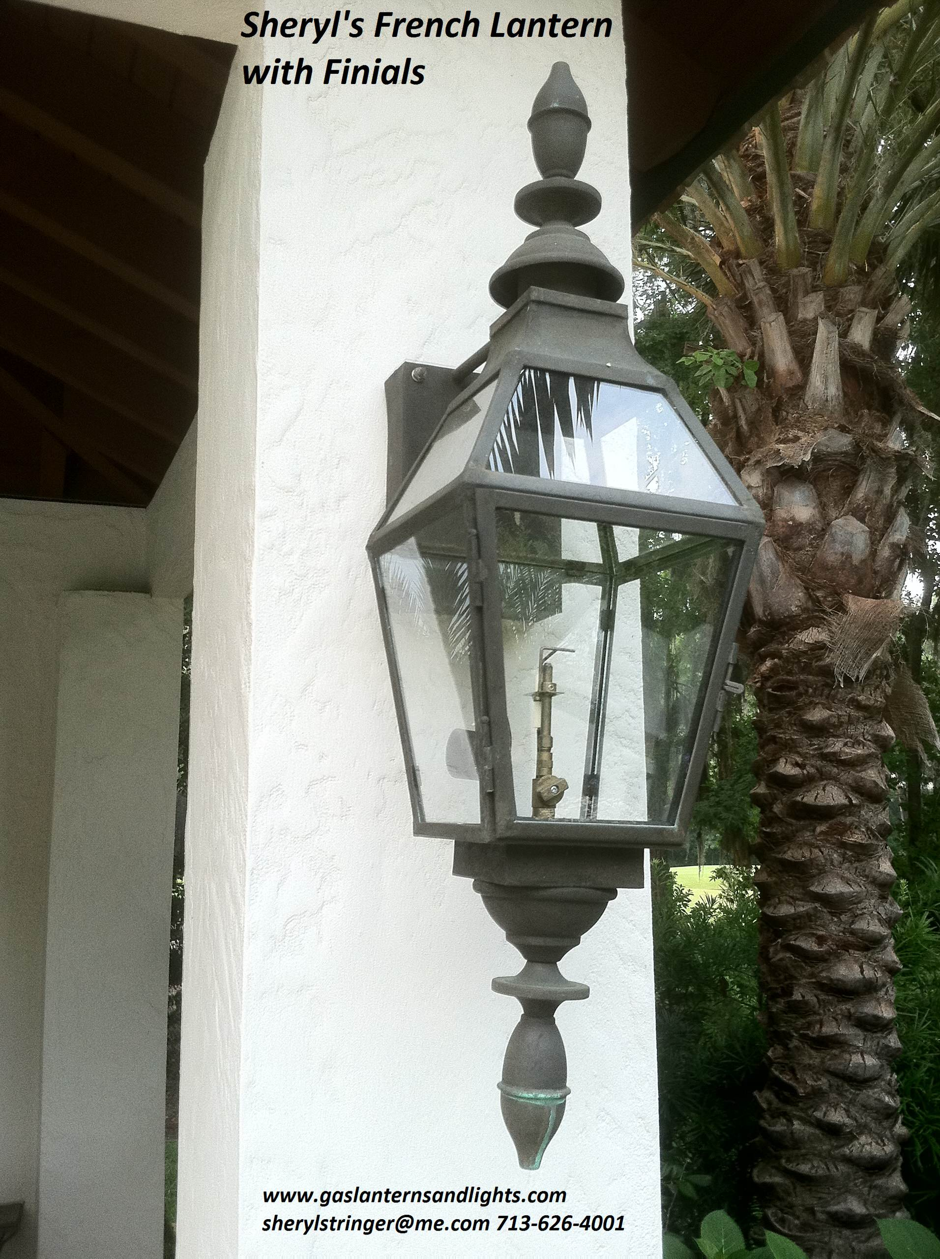 Sheryl's French Gas Lantern with Finials