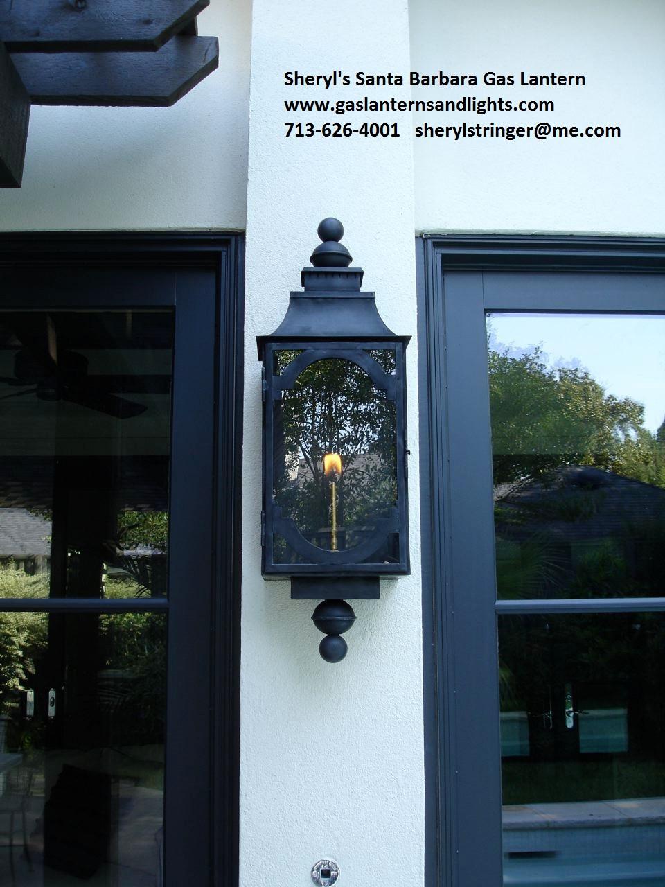 Sheryl's Santa Barbara Gas Lanterns