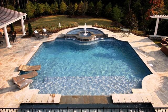 Shingle Style House Traditional Pool Detroit By Vanbrouck Associates Inc