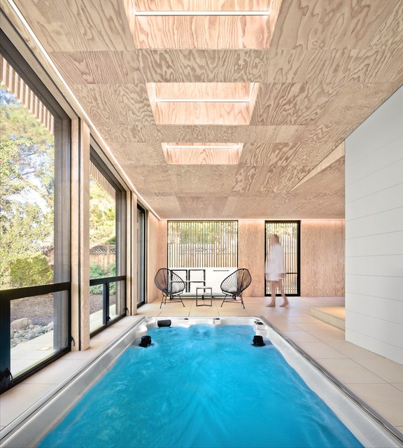 Room of the day an indoor pool laps up the attention for Pool design book