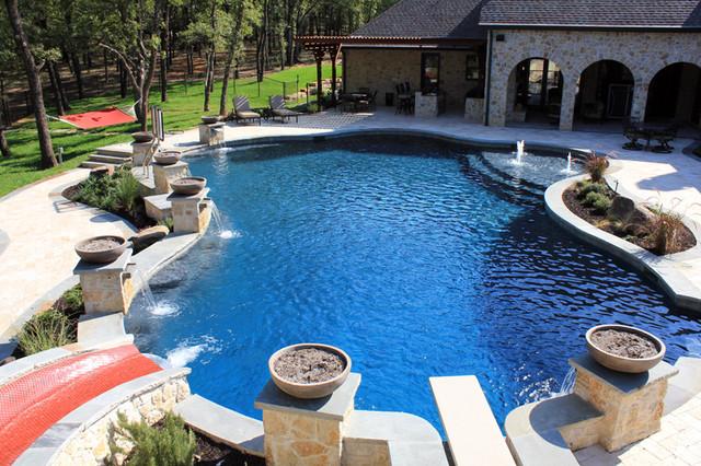 Silvermist flower mound tx traditional pool for Pool design dallas texas