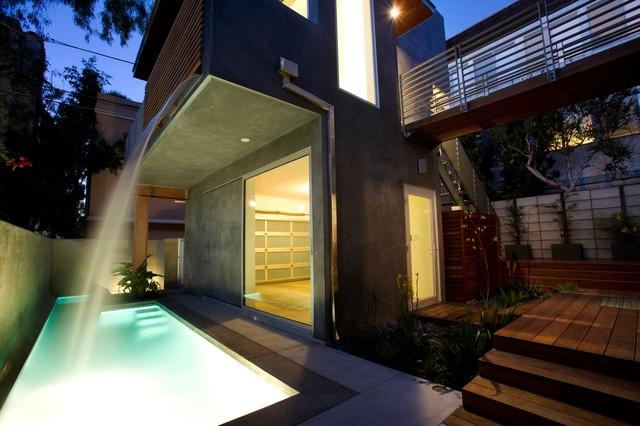 Slat House contemporary-pool