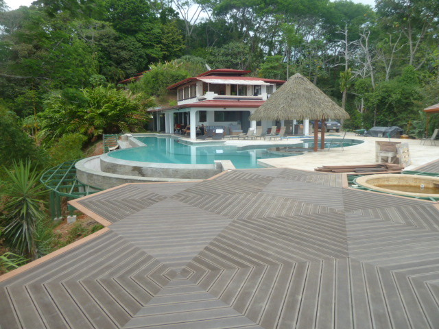 Slate Bamboo Composite Deck tropical-pool