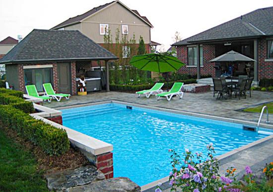 sleek & simple traditional-pool