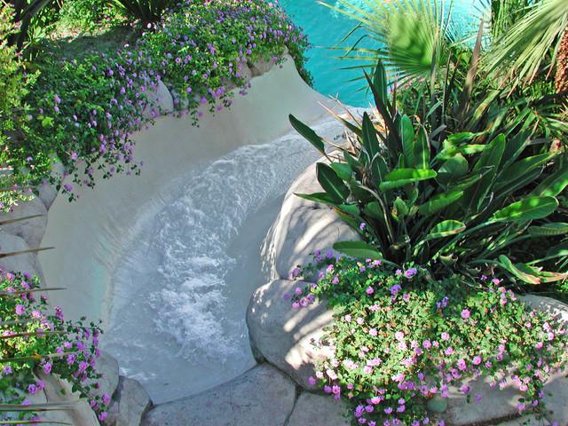 Water slide - tropical water slide idea in Los Angeles