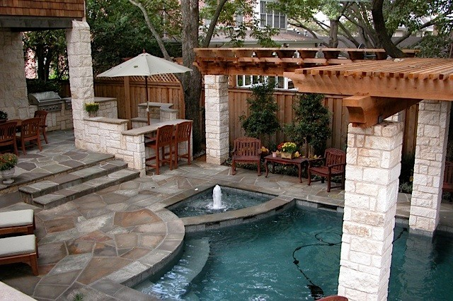Small Backyard Oasis contemporary-pool