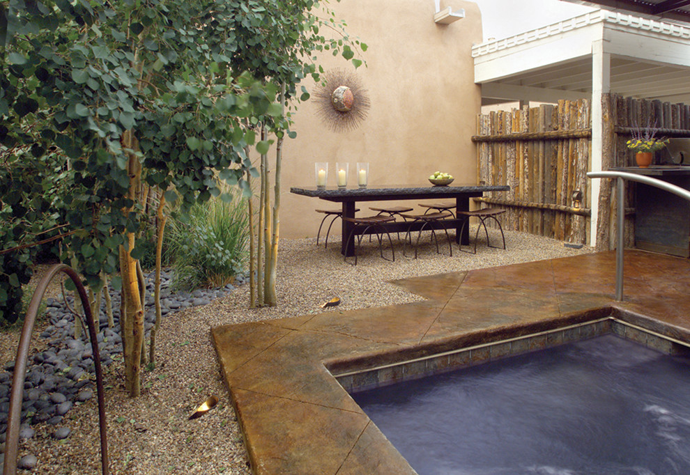 Inspiration for a contemporary pool remodel in Albuquerque