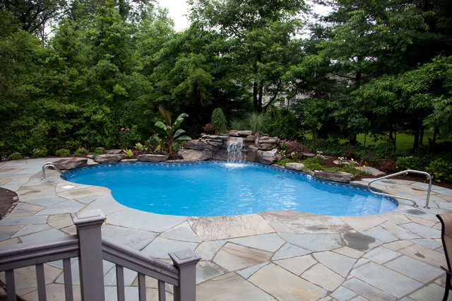 Small Lagoon Pool Tropical Pool Newark By Jardin