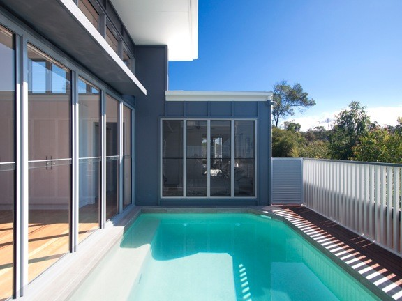 Small lot home contemporary pool brisbane by aboda for Small lot home designs brisbane