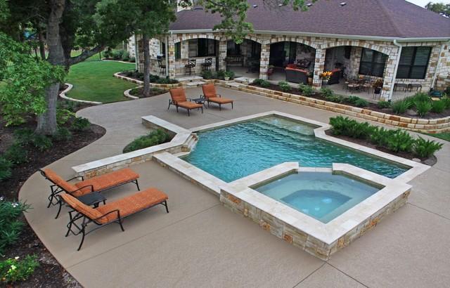 Small Pool Design Award Winner Klassisch Pools Austin Von Ocean Quest Pools By Lew Akins Houzz