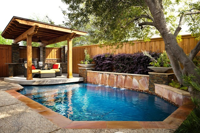 Backyard ideas with above ground pools - Small Space Renovation Traditional Pool Dallas By Pool