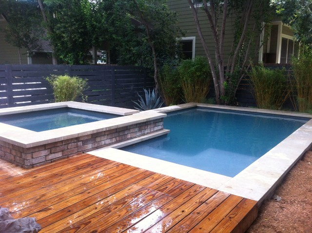 Small Space Small Pool Contemporary Swimming Pool Austin By Design Ecology